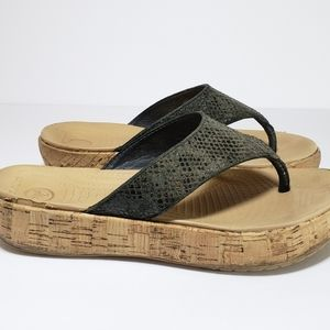 Womens Crocs Wedge Thong Sandals